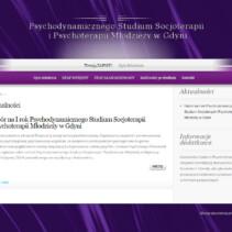 Nabór naIrok Psychodynamicznego Studium Socjoterapii iPsychoterapii Młodzieży wGdyni